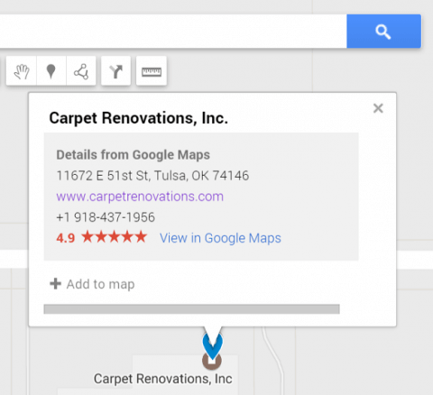 Carpet Cleaning Company Near Me Google Result Tulsa